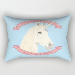 Unicorns Against the Patriarchy Rectangular Pillow