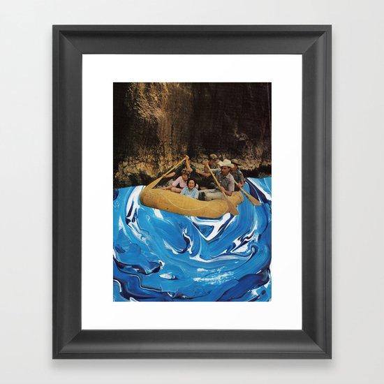 gently down the stream Framed Art Print