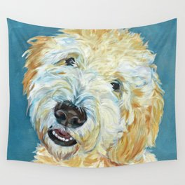 Stanley the Goldendoodle Dog Portrait Wall Tapestry