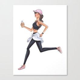 Brunette runner Canvas Print