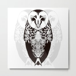 Owl By Myself Metal Print