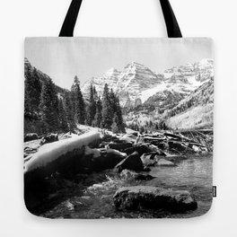 Maroon Bells Mountains Colorado Tote Bag