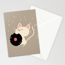 I can't get nooo catisfaction Stationery Cards