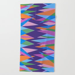 Crystal Stalagmites Beach Towel