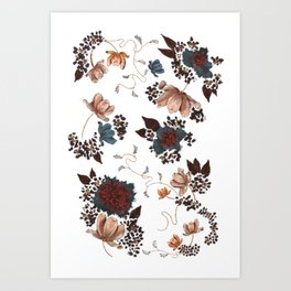 Light Floral Art Print