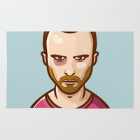 jesse pinkman Area & Throw Rugs featuring Jesse Pinkman by Sherif Adel