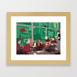 Bye Bye Red Balloon! Framed Art Print