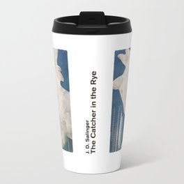 J. D. Salinger's The Catcher in the Rye - Literary book cover design Travel Mug