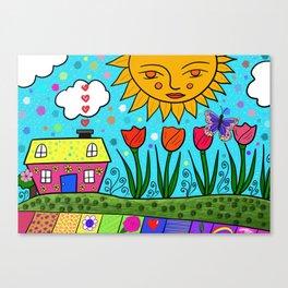 Sunshine House Canvas Print