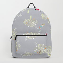 I the apple orchards pattern Backpack