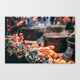 Christmas Market Relaxation Canvas Print