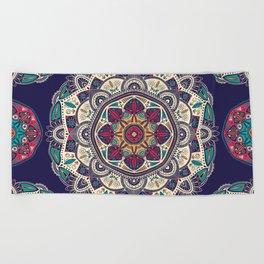 Colorful Mandala Pattern 007 Beach Towel