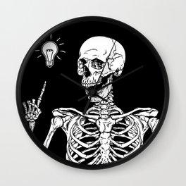 Skeleton got an idea Wall Clock