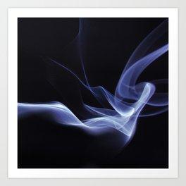 Lyrical Smoke Pattern Art Print