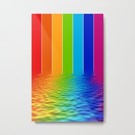 spectrum water reflection Metal Print