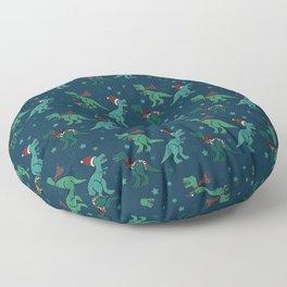Holiday T-Rex Floor Pillow