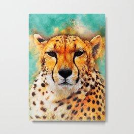 gepard art #gepard #cats #animals Metal Print