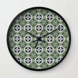 Moroccan Tea Seamless Pattern Wall Clock