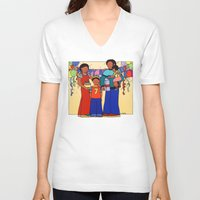 happy birthday V-neck T-shirts featuring Happy Birthday! by 2cute
