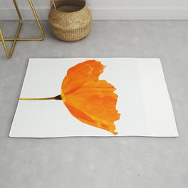One And Only - Orange Poppy White Background #decor #society6 #buyart Rug