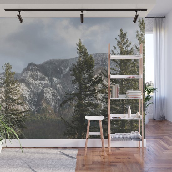 Mountains Through The Forest - Nature Photography by cascadia