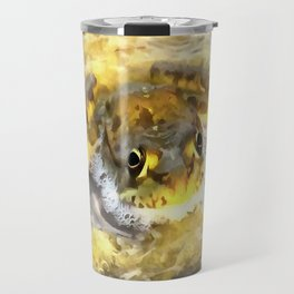 Frog In Deep Water Travel Mug