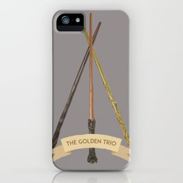 The Golden Trio iPhone Case