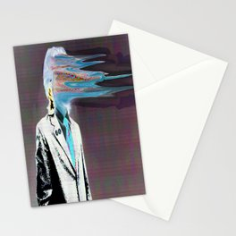 NO ONE AROUND HERE HAS THE GUTS INVERT Stationery Cards