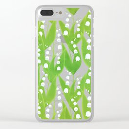 Lily of the Valley Pattern Clear iPhone Case