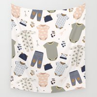 baby Wall Tapestries featuring baby by Ceren Aksu Dikenci