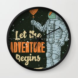 Let The Adventure Begins Wall Clock