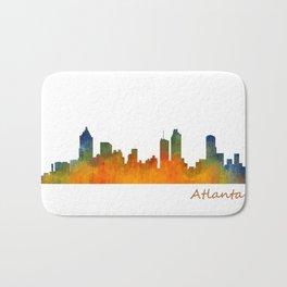 Atlanta City Skyline watercolor Hq v1 Bath Mat