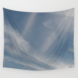 Spring Evening Sky // Cloud Photography Wall Tapestry
