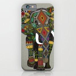 floral elephant stone iPhone Case