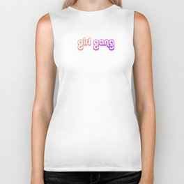 GIRL GANG (purplelicious gradient) Biker Tank