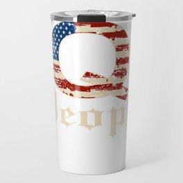 Q Anon USA Flag We The People Constitution Qanon Sweatshirt Travel Mug