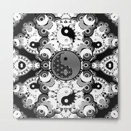 YinYang Sacred Geometry Totem Metal Print