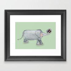 Elefant In Love Framed Art Print
