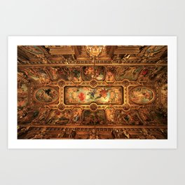 Midnight with Botticelli, Raphael, Michelangelo, & Perugino, Sistine Chapel, Rome Art Print