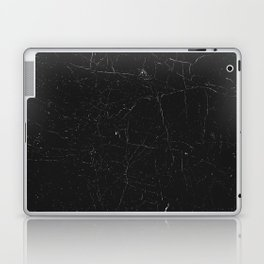 Black distressed marble texture Laptop & iPad Skin