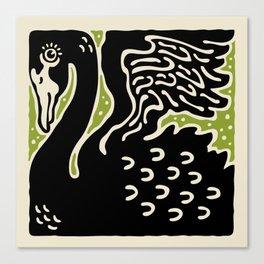 Black Swan 123 Canvas Print