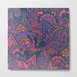 Purple Mayan Fantasy Metal Print