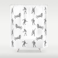 bigfoot Shower Curtains featuring The Secret Life of Bigfoot by Ann Pickard