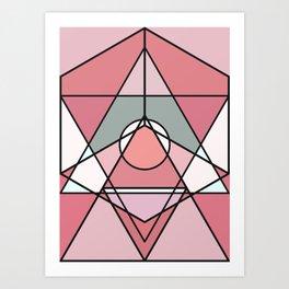 Pink graphics Art Print