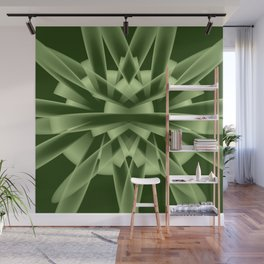 Abstract in green tones Wall Mural