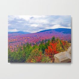 Brilliant Fall Colors at Ira Mountain in Kingfield, Maine (1) Metal Print