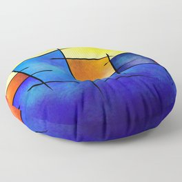 Esseniumos V1 - square abstract Floor Pillow