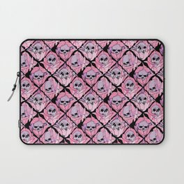 Skulls and Blossoms Laptop Sleeve