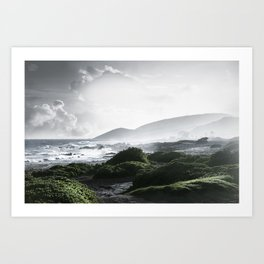 Sandy Beach, Hawaii Art Print