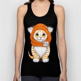kitten in fox cap Unisex Tank Top